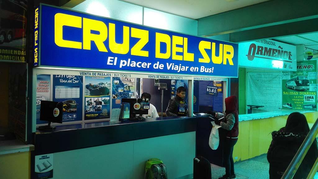 Автобус Cruz del Sur