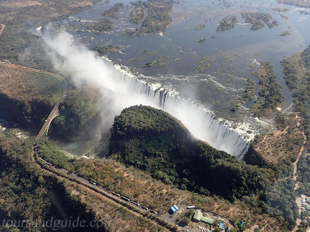 Аэрофотоснимок водопад Виктория
